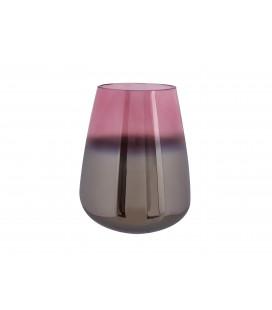 Vase Oiled verre rose 18cm