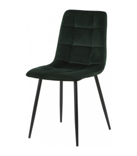 Chaise Manta Vert Empire Velours Ras