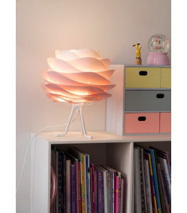 Lampe Carmina Mini Baby Rose - Tripod Base Blanc