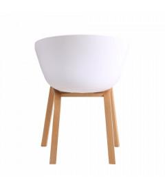 Chaise MOD Blanc Tissu Anthracite