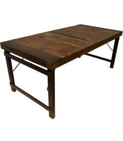 Table A Manger Vieux Bois 180cm - 6 à 8 Personnes