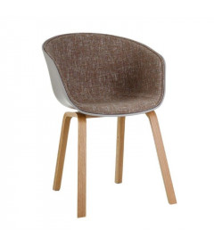 Chaise MOD Grise Tissu Taupe Chiné