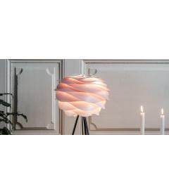 Lampe Carmina Mini Baby Rose - Tripod Base Noir