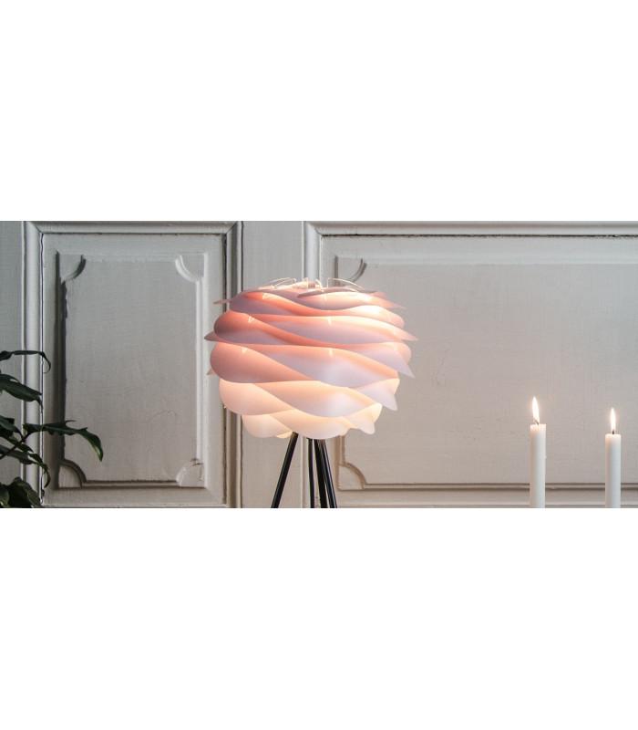 Lampe Carmina Mini Baby Rose Tripod Base Noir