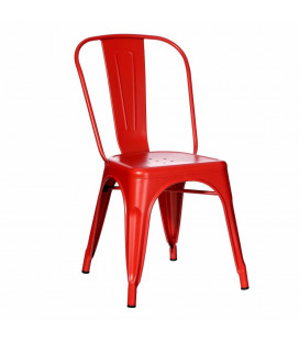 Lot de 4 Chaises Dallas Rouge