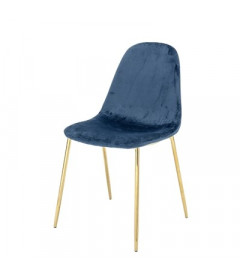 Chaise Bloom Em Bleue Gold Bloomingville
