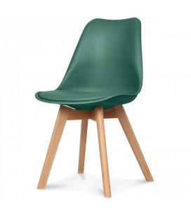 Chaise Copenhague Vert Pin + Coussin
