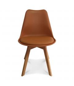 Chaise Copenhague Caramel + Coussin