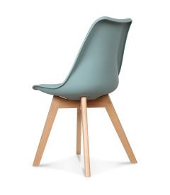 Chaise Copenhague Vert Thym + Coussin