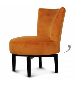 Fauteuil Pivotant Birkin Velours Curry