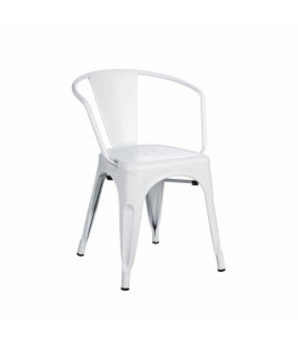 Chaise Dallas Accoudoirs Blanc