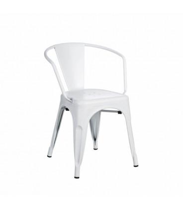 Chaise Dallas Accoudoirs Blanc