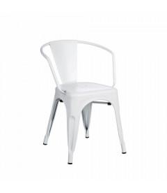 Chaises X4 Accoudoirs Dallas Blanc