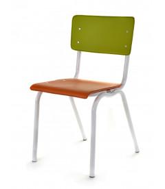 Chaise Serax Vincent Orange Vert Cadre Blanc