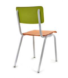 Chaise Serax Vincent Vert Orange Cadre Blanc