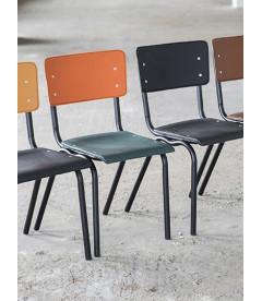 Chaise Serax Vincent Vert Orange Cadre Noir