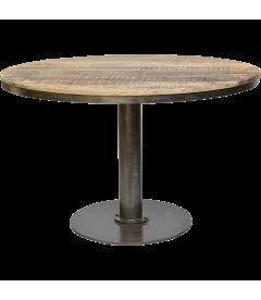 Table A Manger Vieux Bois Ronde ø 120cm - 6 Personnes