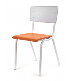 Chaise Serax Vincent Orange Blanc Cadre Blanc
