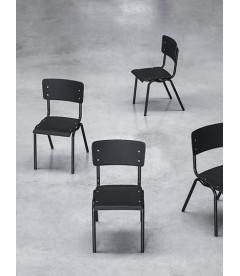 Chaise Serax Vincent Noir Noir Cadre Noir