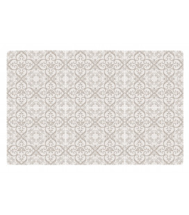 Set De Table Motif 6 Carreaux de Ciment Sable
