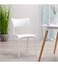 Chaises X2 Sole Empilables Blanc