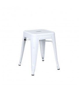 Tabourets X2 Bas (Hauteur Chaise) Blanc Dallas