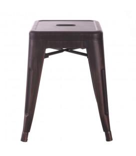 Tabourets X2 Bas (Hauteur Chaise) Patine Noir Vieilli Or Dallas