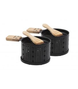 Cookut Set de 2 raclettes individuelles à la bougie