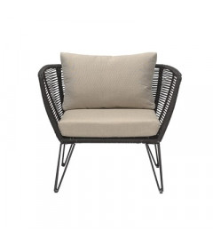 Fauteuil Mundo Black - Outdoor Bloomingville