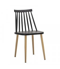 Lot de 2 Chaises Bajo Black - Outdoor Bloomingville
