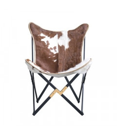 Fauteuil Butterfly Vache Hairon Collection Bloomingville