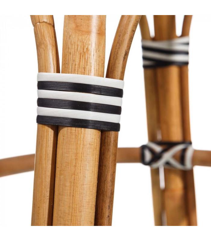 tabouret bistrot plan de travail rotin noir et blanc h gen. Black Bedroom Furniture Sets. Home Design Ideas