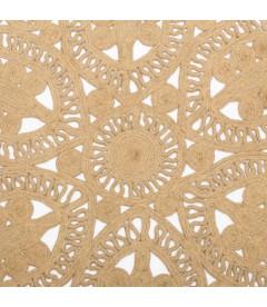 Tapis Jute Crochet Rond Ø120cm
