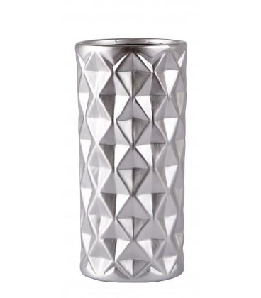 Vase - Ceramique - Silver - Matt - D 13,0cm - H 28,0cm - Pcs.