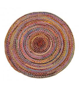 Tapis Jute Rond Multicolore Ø150cm