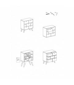 Commode Boréal 7 tiroirs Miel