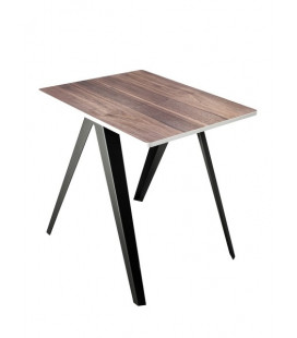 SANBA TABLE TOP SERAX NOIX BORD BLANC PIEDS NOIR