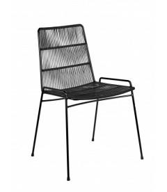 Chaise Serax Abaco Noir sur Cadre Noir - Outdoor