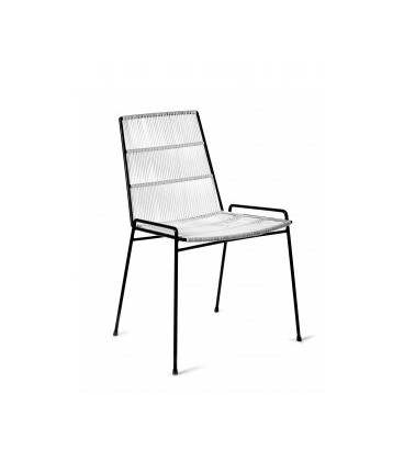 Chaise Serax Abaco Blanche sur Cadre Noir - Outdoor