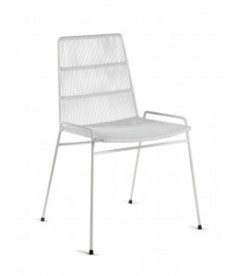 Chaise Serax Abaco Blanche sur Cadre Blanc - Outdoor