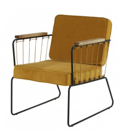 Fauteuil Mendra Moutarde
