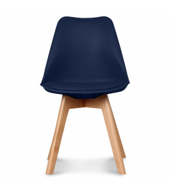 Chaise Copenhague Bleu Marine + Coussin