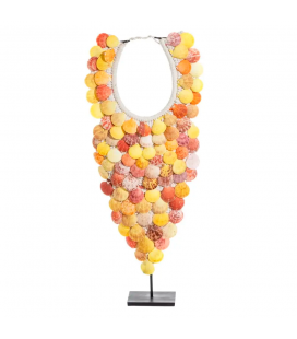 Collier Décoratif Coquillages Jaunes 60cm