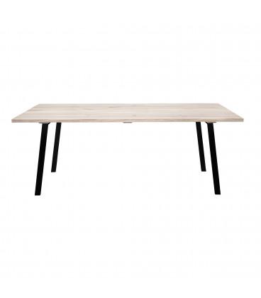 Table A Manger Cozy Chêne 200cm Pieds Noirs - Bloomingville - 8 Personnes