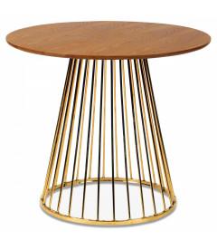 Table A Manger Cirkle Walnut Gold ø 110cm 5 Personnes