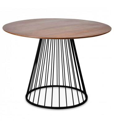 Table A Manger Cirkle Walnut Black ø 110cm 5 Personnes