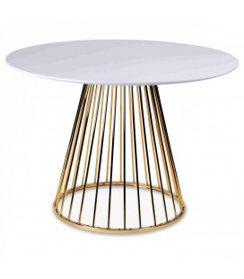 Table A Manger Cirkle White Gold ø 110cm 5 Personnes