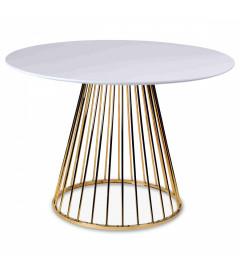 Table A Manger Cirkle White Gold ø 110cm 5 Personnes