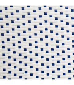 Tabouret Bistrot Bar Rotin Bleu et Blanc