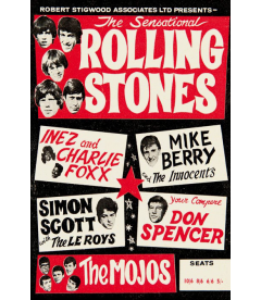 Toile sur Chassis Concert Rolling Stones [50/75cm]